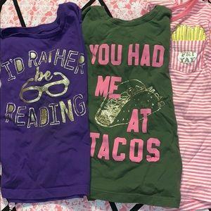BUNDLE of girls long sleeve shirts